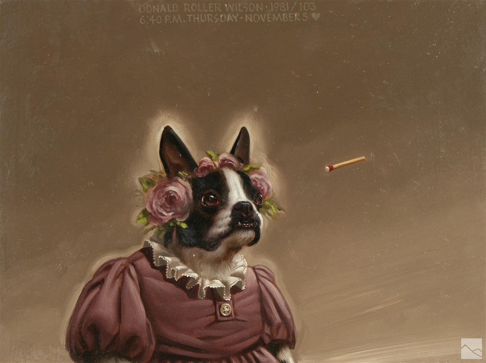 Donald Roller Wilson (American b1938) Dog Painting