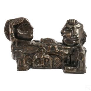 Virgilio Trompiz 1927-2012 Modern Bronze Sculpture