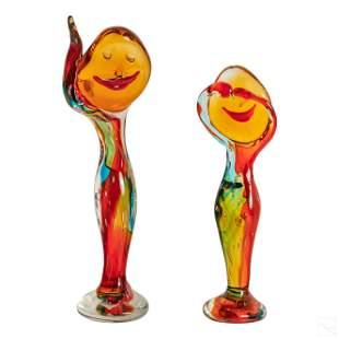 Murano Vitro Artistico Studio Art Glass Sculptures