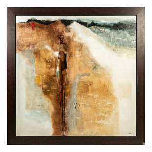 Katia Poulin (b.1971) Modern Abstract Oil Painting