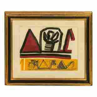 Riccardo Licata 1929-2014 Modern Abstract Painting