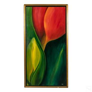 Mickey Payne (20C) Modern Abstract Floral Painting