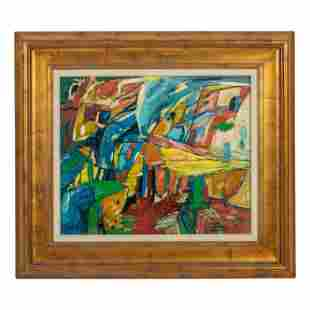 Architectural Abstract Composition Painting SIGNED