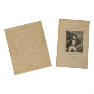 Oliver H Perry HANDWRITTEN Jeffersonian Era Letter