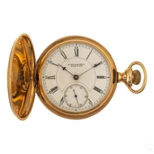 14K Gold E. Howard Antique Engraved Pocket Watch