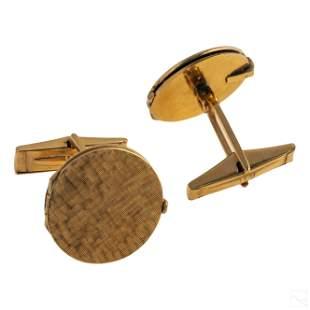Jose Ferrer 14K Gold Childrens Locket Cufflinks