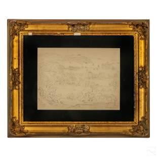 Thomas Cole (1801-1848) Hudson River School Sketch