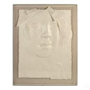 Frank Gallo 1933-2019 Modern Cast Paper Sculpture