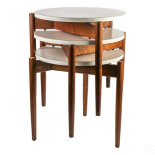 Jens Risom Mid Century Modern Stacking Tables Set