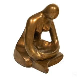 Bronze Modern Abstract Figural Art Woman Sculpture