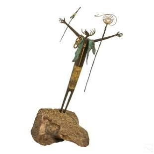 Bill Worrell b.1936 Native Indian Bronze Sculpture