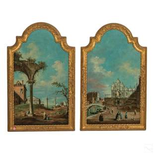 Landscape Antique Paintings after Canaletto (17C.)
