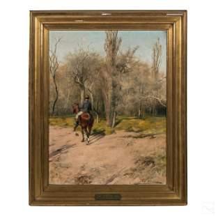 Domingo Puig Y Sauret 1873-1951 Landscape Painting