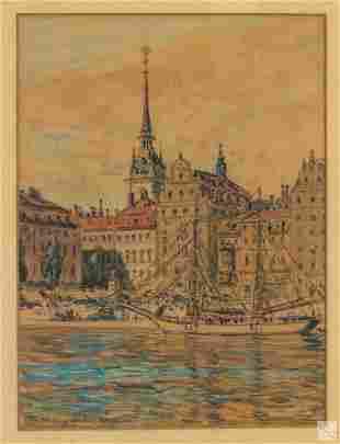 Frank Armington (1876-1941) Landscape WC Painting