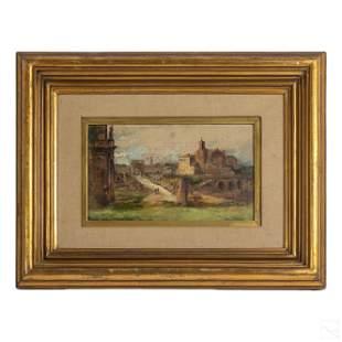 Mateo Balasch 1870-1936 Landscape Oil Painting