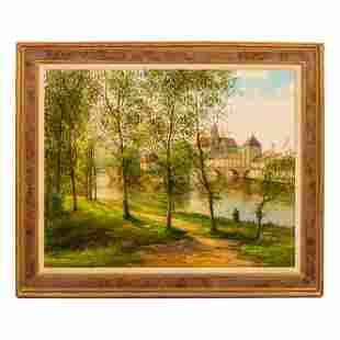 Mystery Art Landscape Oil Painting Wally Findlay