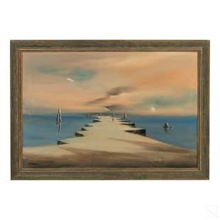 John Stancin (1916-1988) Surreal Seascape Painting