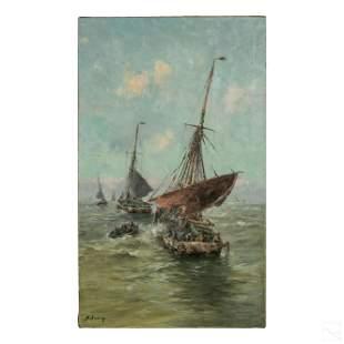 Hadrien Arden 19th Century Seascape Storm Painting