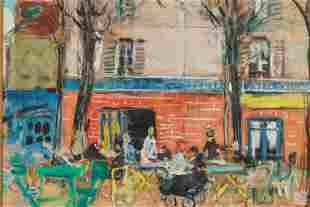 Francois Gall 1912-1987 Parisian Gouache Painting