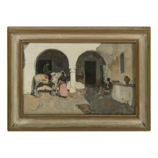 James Kerr Lawson 1864-1939 Spanish Genre Painting