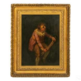 Victorian 19C. Antique Child Portrait Oil Painting