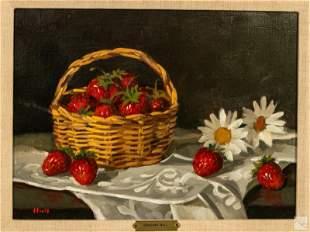 Gregory Hull b.1950 Modern Still Life Oil Painting