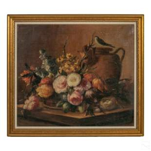 Still Life and Wildlife Bird Floral Oil Painting