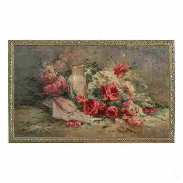 Alarcon (20C.) Spanish Floral Still Life Painting