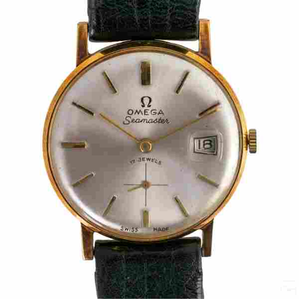 18K Gold Omega Seamaster Date Ref 42864 Wristwatch