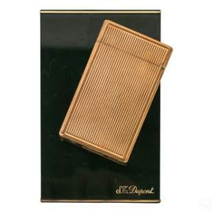 S.T. Du Pont Paris Gold Plated Flip Pocket Lighter