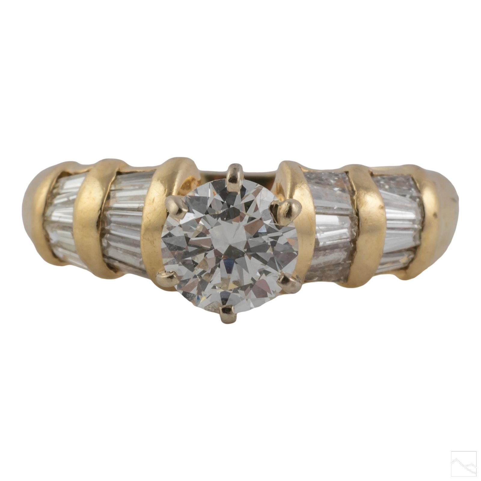 14K Gold Ladies Natural Diamond Engagement Ring 4g