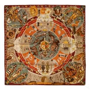 """Hermes Paris Designer Mythology 35x35"""" Silk Scarf"""