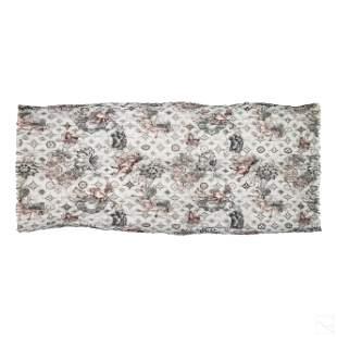 Louis Vuitton LV Silk Blanket Shawl Oversize Scarf