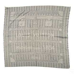 Louis Vuitton Oversized Cotton Blanket Shawl Scarf