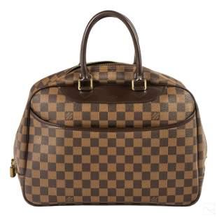 Louis Vuitton LV Damier Ebene Patch Hand Bag Purse