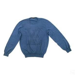 Louis Vuitton LV Blue Long Sleeve XL Wool Sweater