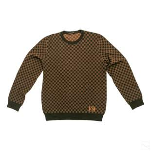 Louis Vuitton LV Mens Damier XL Long Wool Sweater