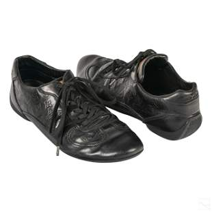 Louis Vuitton Mens Black Casual Leather Shoes 9.5