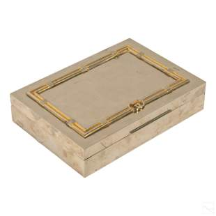 Gucci GG Gold and Silver Plated Hinged Trinket Box
