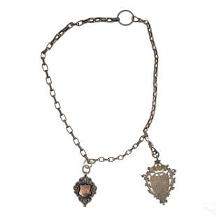 English Sterling Silver Chain Necklace & Pendants