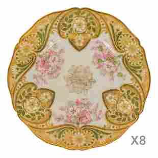 Limoges Haviland France Porcelain China Plates 8Pc