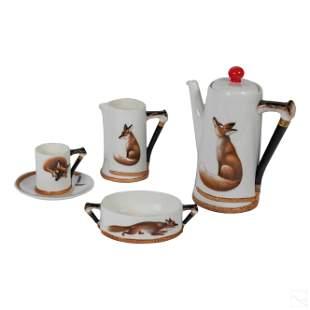 Royal Doulton Ceramic Reynard Fox Coffee Set 25 pc