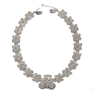 Los Ballesteros Sterling Silver Designer Necklace