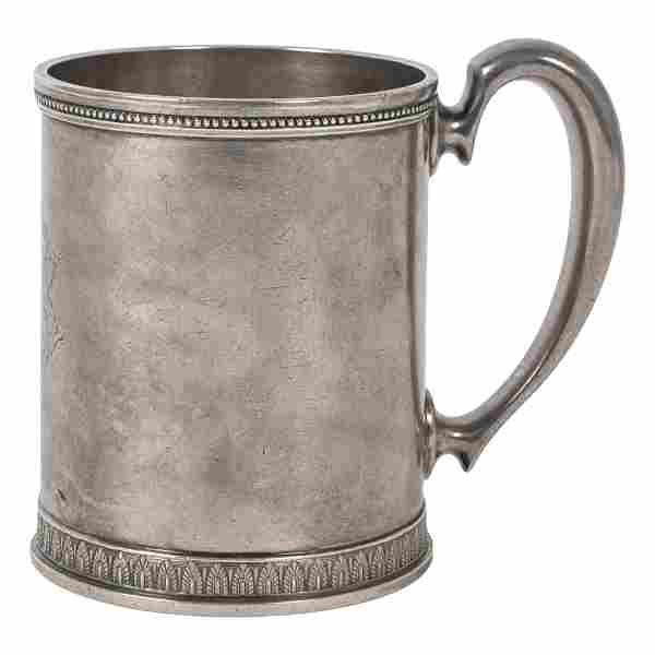 Tiffany & Co. Antique Sterling Silver Handled Mug