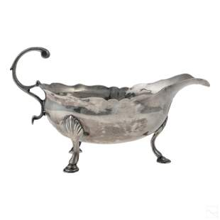 Samuel Wood (18th Cent) Sterling Silver Sauce Boat