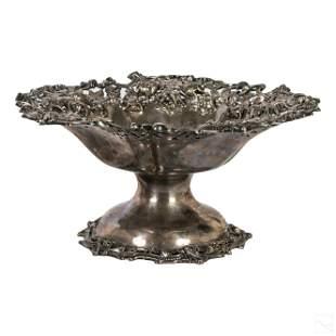 Antique Art Nouveau Sterling Silver Compote 652g