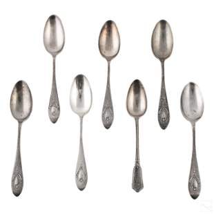 Edwardian English Sterling Silver Teaspoons 138g