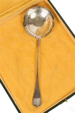 Orbann 19C French Antique Silver Serving Spoon 54g