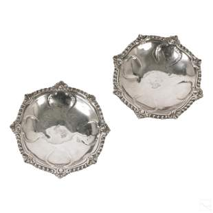 A Courtauld English Sterling Silver Epergne Dishes