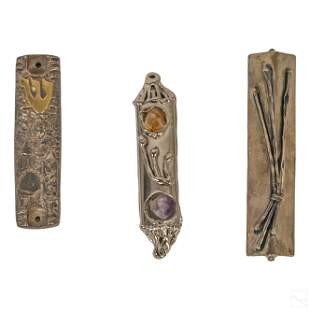 Sterling Silver & Metal Judaica Mezuzah Collection